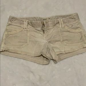 American Eagle Khaki Shorts Size 0